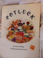 """PotluckAnne ShelbyBIG BOOK1989 Paperback 19"""" Tall Class Size Teacher Copy"""