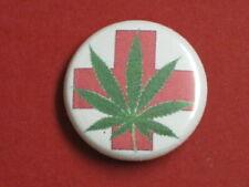 5 Medical Red Cross Weed Marijuana Mary Jane New Pinbacks Buttons 1 inch