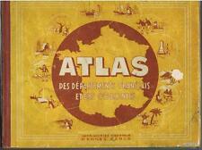 ATLAS des départements français et des colonies oberthur vers 1920 100 cartes BE
