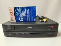 Zenith 2 Head HQ VCR VHS Player Video Cassette Recorder with Cables & Tape