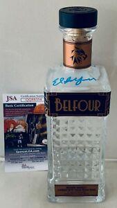 Ed Belfour signed Belfour Bourbon Whiskey 750 ML Bottle autographed W/ HOF JSA