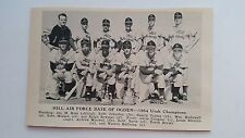 Hill Air Force Base of Ogden Utah 1954 Baseball Team Picture