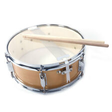 "13"" Piccolo Acoustic Single Drums Snare Drum with Drumsticks Wood Color"