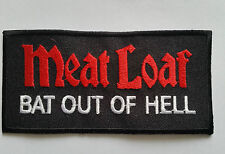 """PUNK ROCK HEAVY METAL MUSIC SEW ON / IRON ON PATCH:- MEATLOAF """"BAT OUT OF HELL"""""""