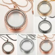Fashion Living Memory Floating Charms Glass Round Locket Pendant Necklace Gift