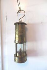 E.THOMAS&WILLIAMS BRASS NAUTICAL SHIP LAMP OR COAL MINOR LAMP,MAKERS ABERDARE