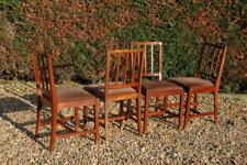 Vintage Set of Four Slatted Back Kitchen Dining Chairs - Ideal Upcycle Project