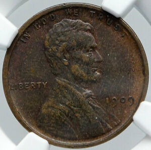 1909 USA United States of America LINCOLN WHEAT EARS OLD CENT Coin NGC i89174