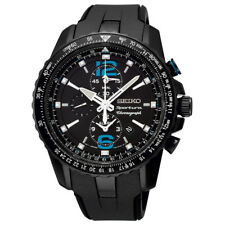 WATCH SEIKO SPORTURA SS CHR ALARM MEN BLACK