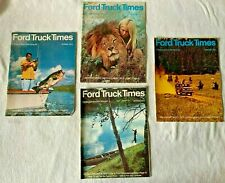 Vintage Ford Truck Times 1972 and 1973 Magazines campers vans Rvs