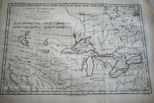 CARTE ANCIENNE CANADA ORIENTALE GRANDS LACS  RIGOBERT BONNE 1788 (R1193) MAP