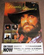 DEMIS ROUSOS STUNNING CONCERT POSTER THURSDAY 3rd APRIL 1975 BIRMINGHAM ODEON UK