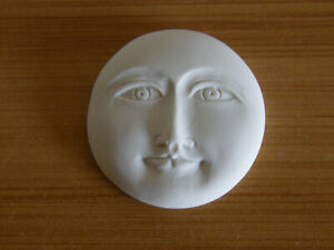 Moon Face Polymer Clay Cabochons