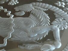"""c1956 Rene Lalique BERBERE Heavy Signed French Glass Charger 15.5"""" FIND ANOTHER"""