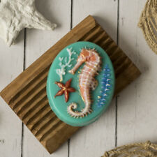 """Seahorse 3"" plastic soap mold soap making mold mould"