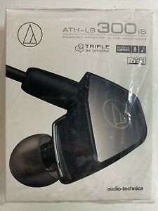 New Sealed Audio-Technica ATH-LS300iS In-Ear Headphones w/In-Line Mic&Control