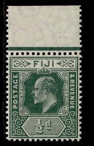 FIJI EDVII SG118, ½d green, NH MINT. Cat £12.