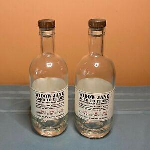 (2) Empty Glass WIDOW JANE BOUBONS Bottles 750 mL - Art and Crafts Projects