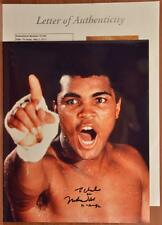 Autographed Hand Signed Muhammad Ali Photo Personalized JSA LOA Full Letter