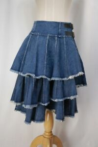 JUNYA WATANABE COMME des GARCONS Denim Wrap Tiered Skirt 1100 3424