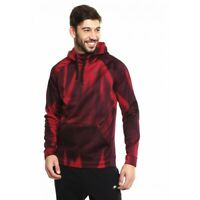 Nike Men Red Therma Printed Training PULLOVER hoodie sweater Dri-Fit 864107-620