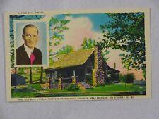 Vintage Postcard Harold Bell Wright Old Matt's Cabin Branson Mo Unposted