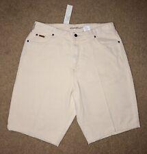"""NEW Eddie Bauer Women's Capri Shorts Jeans Denim Khaki Beige 16W Vanilla 34"""" Vtg"""