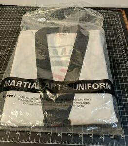 White Redox Taekwondo Dobok Uniform Martial Arts, SIZE 5 Top and Pants