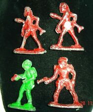 Old antique toy lot LEAD figures BUCK ROGERS Alien gun space monster or indians?