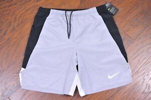 NWT Nike Dri-Fit Team Woven Unlined Shorts Gray Black Men's Large L