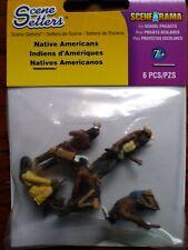 Woodland Scenics Scene Setters Native Americans Indians 6 pcs SP4443