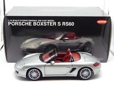 1:18 Porsche Boxster S RS60 Spyder Silver Kyosho Diecast Model 08382S Mega Rare