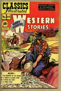 Classics Illustrated #62-1951 fn 6.0 2nd edition Bret Harte's Western Stories