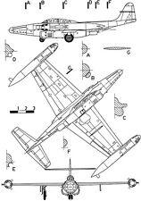 Northrop F-89H Scorpion - Blueprint Poster