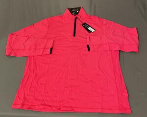 Greyson Tate 1/2 Zip Golf Pullover (XL, Patriot Pink)(NWT) MSRP $125