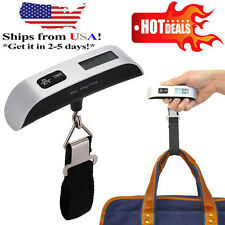 50kg/10g Portable Digital LCD Electronic Travel Luggage Weight Hook Scale USA