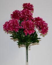 Bouquet Chrysanthème boule x 10 Fleurs Artificielles intérieur/extérieur
