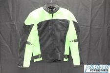 NEW MEDIUM M LIME GREEN POLYESTER MESH ARMOR MOTORCYCLE JACKET *JACKET RUN SMALL