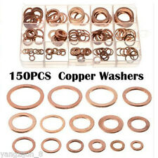 150pcs Brass Sump Plug Washers Engine Seal Solid Copper Washers Flat Ring Washer