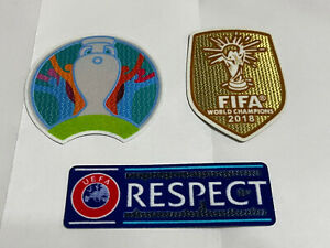 France Away European Euro 2020 Championship Soccer Football Patch Badge respect