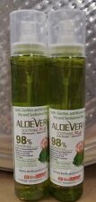 Aloe Vera (Pure) �Lot Of 2� Moisture Soothing Gel Mist 3.9oz. Organic Aloe