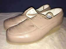 P. W. Minor Ortopédicas Beis Encajes Tacón Plataforma Cómodo Zapato 6D Ancho