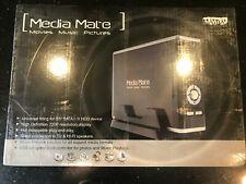 "Media Mate Aluminum USB 2.0 3.5"" SATA HDD Enclosure & Multimedia Player"