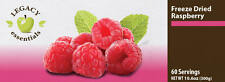 Legacy Premium 60 Servings Freeze Dried Raspberries 6-pack. Emergency Food.