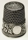Antique Simons Bros  Sterling Silver Thimble   Circles Leaves   Berries   C1900s