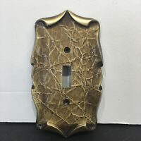 Vintage Amertac 84 Carriage House Brass Double Switch Plate Cover
