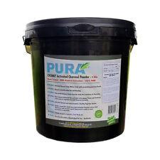 PURA® Fine COCONUT Activated Charcoal Powder BULK 4KG Bucket Activated Carbon