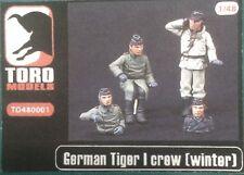 Toro Models Tripulación Tiger I/II Invierno. Figuras 1/48 en resina.