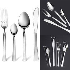24 Piece Stylish Kitchen Stainless Steel Cutlery Set Tableware Dining Utensils
