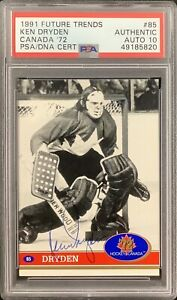 Ken Dryden Signed 1991 Future Trends #85 Card NHL Montreal HOF PSA/DNA Auto 10